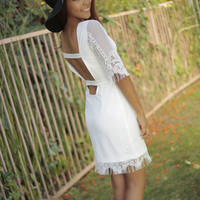 Lace 'Celeste' Dress with Open Back