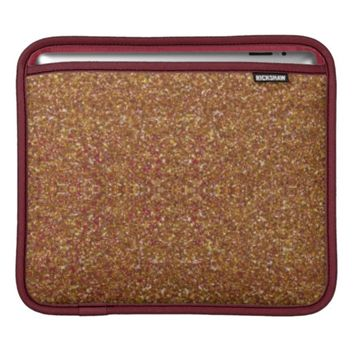 Bedazzled, Cranberry-Gold iPad Sleeve