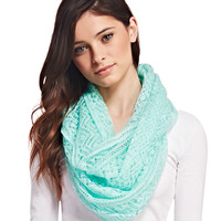 Lace Woven Infinity Scarf   Wet Seal