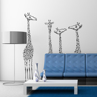 Giraffe family Vinyl Decal