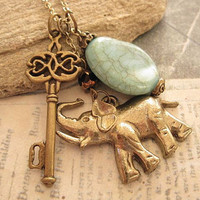Key to Africa Safari charm necklace