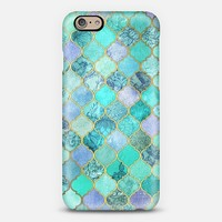 Cool Jade & Icy Mint Decorative Moroccan Tile Pattern iPhone 6 case by Micklyn Le Feuvre | Casetify