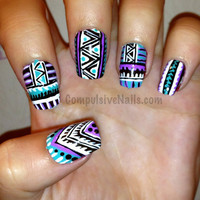 Tribal Fringe Fake Nails