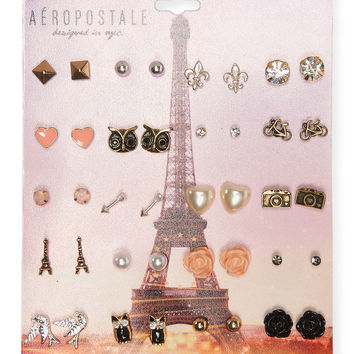 Aeropostale Eiffel Tower Stud Earring 20-Pack - Multi, One