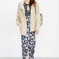 BDG Hooded Sweater Coat - Urban Outfitters