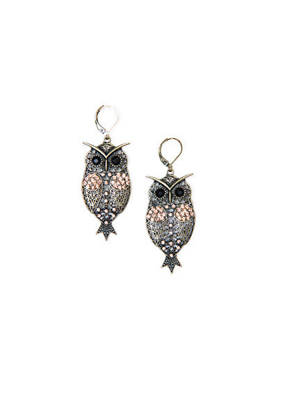 MANGO - ACCESSORIES - Owl earrings