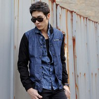 Hot Sale Fashion Male Vogue Style Jean Casual Jacket M/L/XL @S5J04-1 $34.45 only in eFexcity.com.