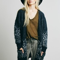Free People Womens Pattern Geo Cardi