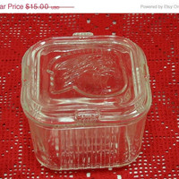 20% OFF SUMMER SALE Glass Storage Container Food Saver Vintage