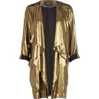 Gold metallic waterfall jacket - jackets - coats / jackets - women