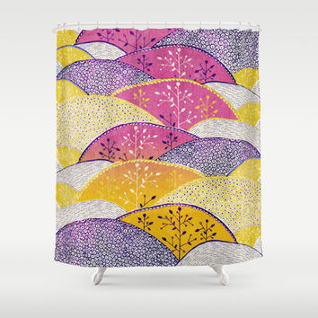 Hills  Shower Curtain by rskinner1122