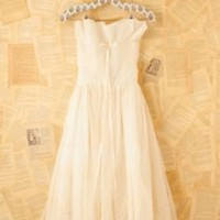 Vintage Cream Princess Dress at Free People Clothing Boutique