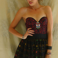 Imala Tribal Bustier Dress... size S/M... Eco Friendly Recycled