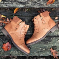 Sole Mate Brown Sweater Ankle Boots