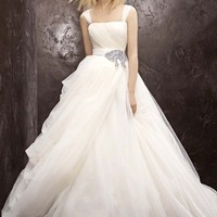 Buy NEW! Tulle Ball Gown with Asymmetrical Draped Skirt Style VW351129  for $217.82 only in Fashionwithme.com.
