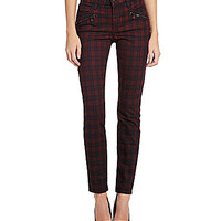 Joe's Jeans Coated Plaid Skinny Pants - Coated Plaid