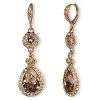Drop Earrings - Rose Gold/Silk