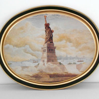 Tin Tray Sunshine Biscuits Statue of Liberty 1985