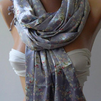 Lilac - Satin and Elegance Shawl / Scarf,,,