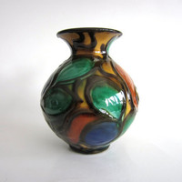 Herman A. Kahler Vase Early HAK Vintage Scandinavian Pottery