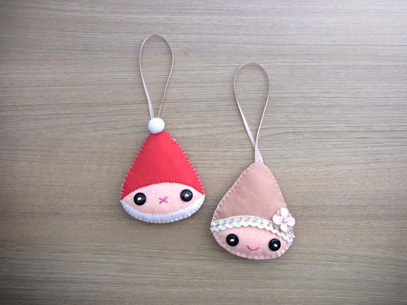 Christmas felt ornament home decor from welovestitches on for Gnome 3 decoration fenetre