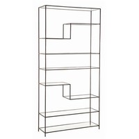 Worchester Natural Iron and Glass Bookshelf