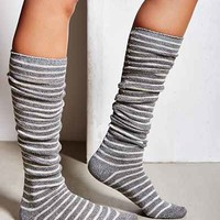 Marled Stripe Over-The-Knee Sock- Grey Multi One