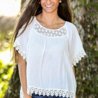 Love & Lace Blouse-Ivory