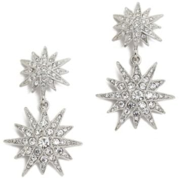 Kenneth Jay Lane Crystal Star Earrings