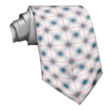 Red and Blue Plaid Pattern Tie