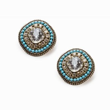 RHINESTONE OUTLINE EARRINGS