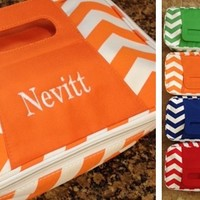 PERSONALIZED CHEVRON INSULATED CARRIERS ARE BACK! NEW LARGER SIZE!