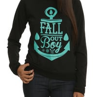 Fall Out Boy Anchor Girls Pullover Top