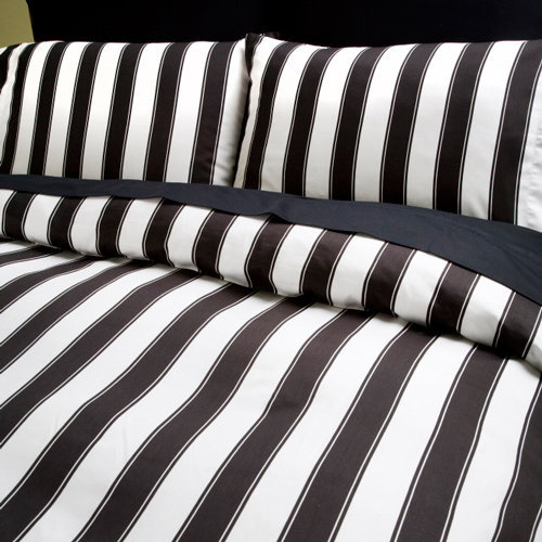 Striped Bedding, Black and White Stripe Sheet Sets | Sin in Linen