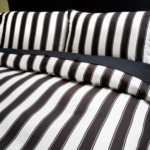 Black and white striped sheet sets