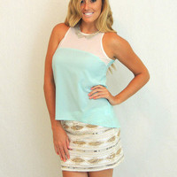 Tea For Two Blouse in Mint -  $44.00 | Daily Chic Tops | International Shipping