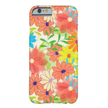 Colorful Modern Garden Spring Flower Pattern iPhone 6 Case
