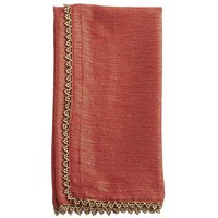 Gold Beaded Napkin - Red