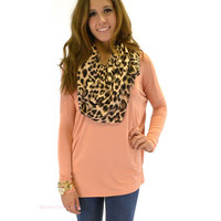 Galloway Nude Piko Long Sleeve Top