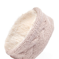 FOREVER 21 Reversible Faux Fur Head Wrap Taupe One