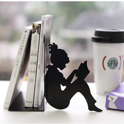 Girl Reading a Book Bookend
