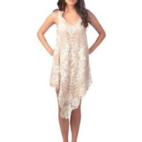Romeo &amp; Juliet Couture Womens Sleevless Crochet Lace Layered Dress: Amazon.com: Clothing