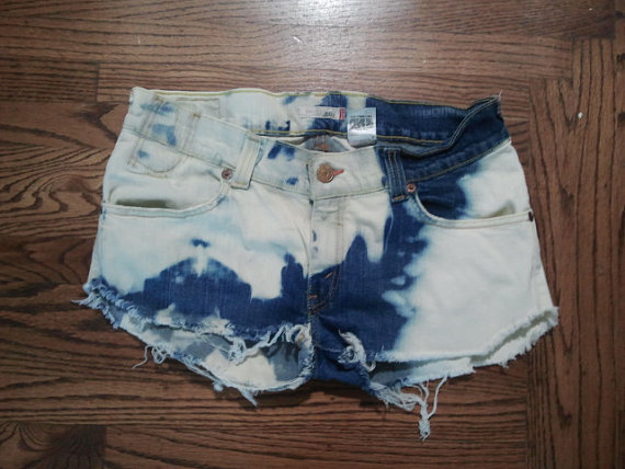 Bleach Edged Shorts