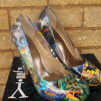 Batman Comic book high heels (Not vintaged)
