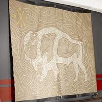 Buffalo Burlap Wall Art