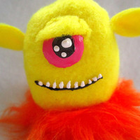 Cyclops FuzzyBum - Plush Monster Miniature by WonkyCritters