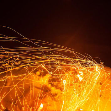 Fire Light - Art - Embers - Flame Photography - Abstract Art - Light Trails - Photography - Australia Art - Home decoration - Fine Art