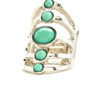 Oval Gem Cocktail Ring: Charlotte Russe