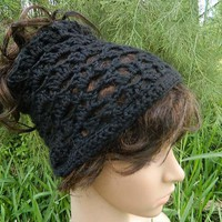 Black Hair Tube/Hair Sock by nattirootz on Etsy