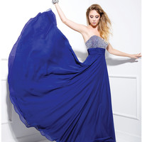 2013 Prom Dresses - Royal Blue Sequin Sweetheart Strapless Long Dress